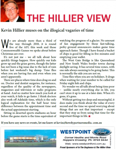 Time Flies when you are reading The Hillier View