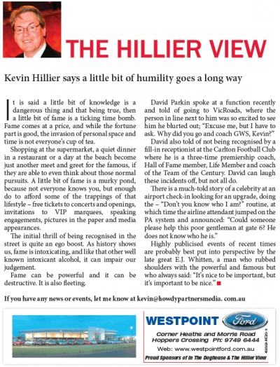 Hillier View on Fame.