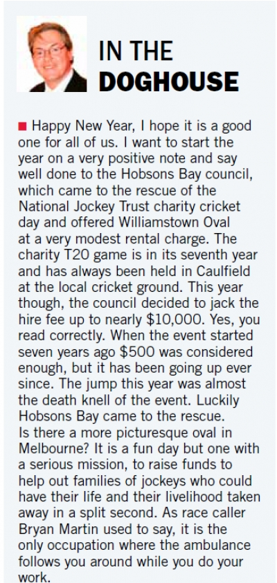 Jockeys and Cricket collide.